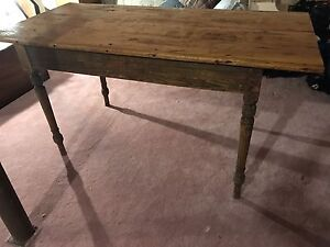 Antique Quebec pine harvest table