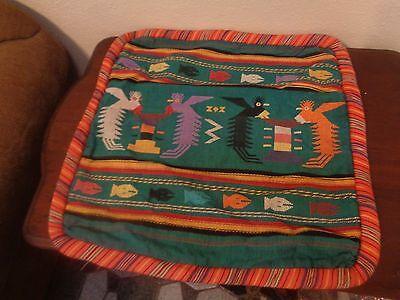 "Guatemalan Hand Made Woven Cotton Pillow Cover 20"" x 20"""