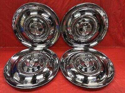 "Vintage Set Of 4 1954–55 Lincoln 15"" Hubcaps"