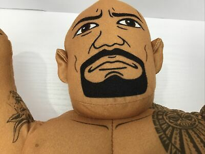 "WWE Brawlin' Buddies Dwayne The Rock Johnson 16"" Plush Toy Talking"