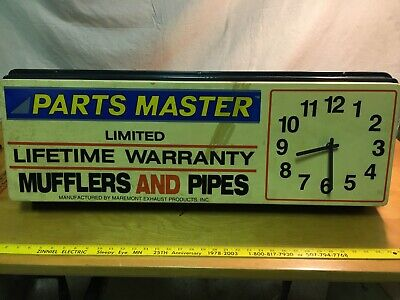 Vintage Maremont Mufflers and Pipes Exhaust clock Parts Master