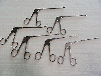 Acufex 6 Piece Surgical Instrument Set Upbiter Downbiter Straight Ect...