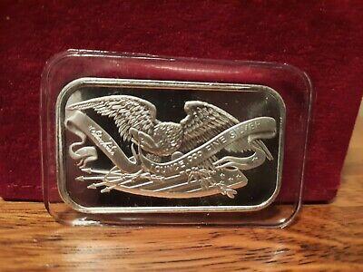 1 OZ SILVERTOWNE AMERICAN EAGLE & FLAG .999 FINE SILVER BAR