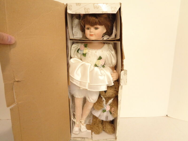 Heritage Signature Collection #12234 April Ballerina with Teddy Bear Doll in Box