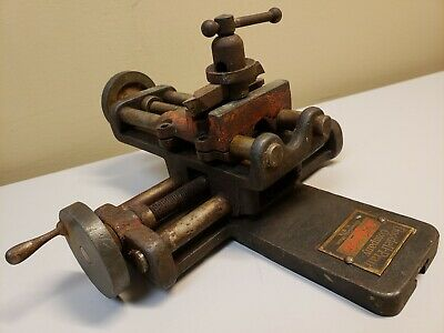 Vintage Goodell Pratt Lathe Cross Slide W Rocker Tool Post Toolsmiths Old Atlas