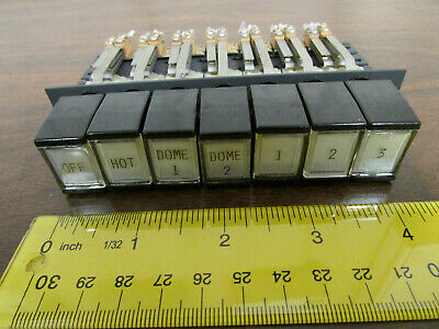 7-position Interlock Push Button Switch Piano Type Dpdt Vintage