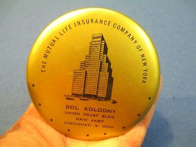 Sol Kolodny Cincinnati Ohio Mutual Life Insurance Hand Mirror