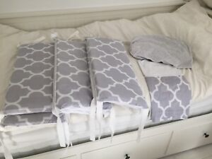 Custom Little and Luxe crib bedding set