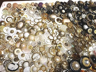 Lot Of 150 Vintage Look Sewing Buttons #65