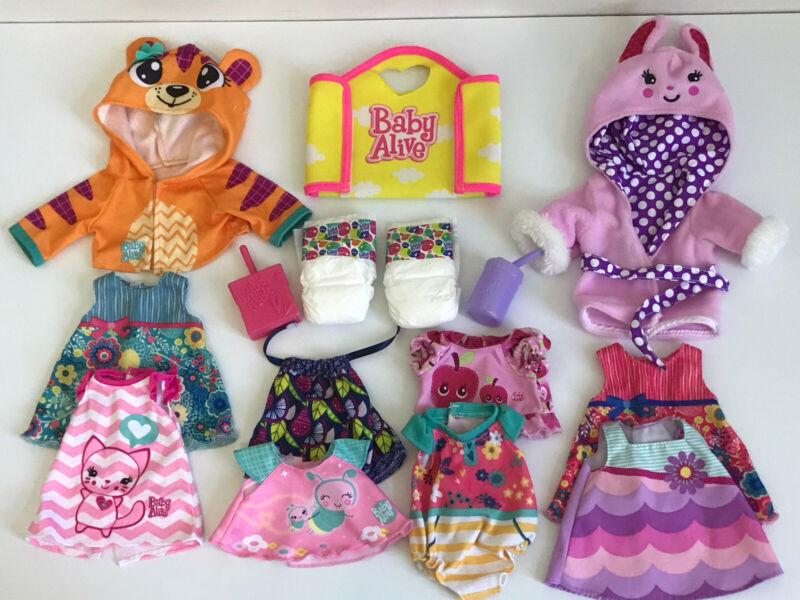 Hasbro Baby Alive Clothes Disper Bag Accessory Lot