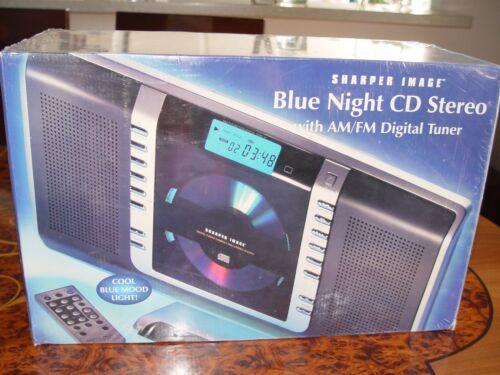 SEALED NEW IN BOX Sharper Image Blue Night CD Stereo System ALARM AM/FM DIGITAL