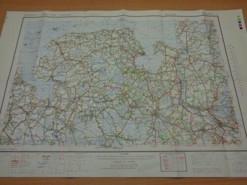 "WW2 (1945) US ARMY Road MAP of GERMANY - ""BREMEN"" (+ WILHELMSHAVEN, BREMERHAVEN)"