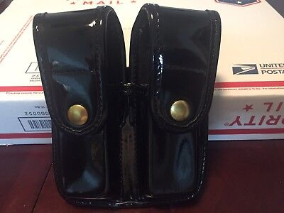 Bianchi 7902 Hi-Gloss Double Magazine Pouch Double Stack 9mm 40 S&W