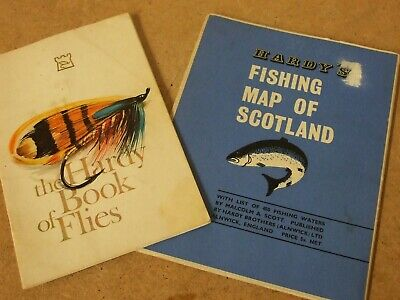 Vintage HARDY 'Book of Flies' and 'Fishing map of Scotland'. ** 2 Rare items **