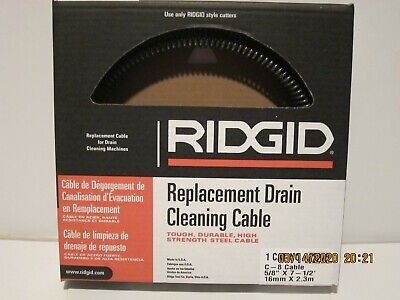 Ridgid 62270 C-8 Drain Cleaning Machine Cable 58 X 7-12-free Shipping-nisb