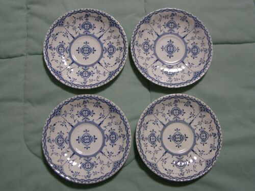 4 H. Aynsley and Co. Copenhagen Pattern Ironstone Saucers Made in England