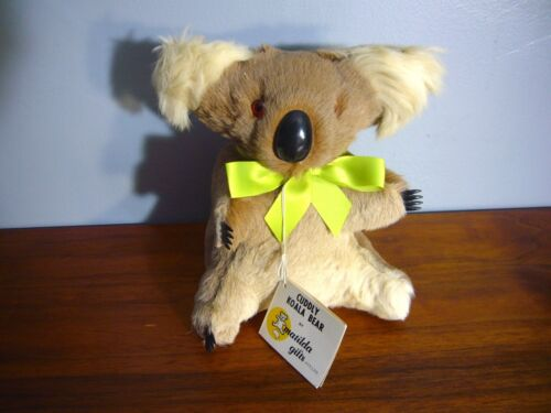 "8.5"" Real Kangaroo Fur Koala teddy Bear Plush Doll NWT Matilda Australia"