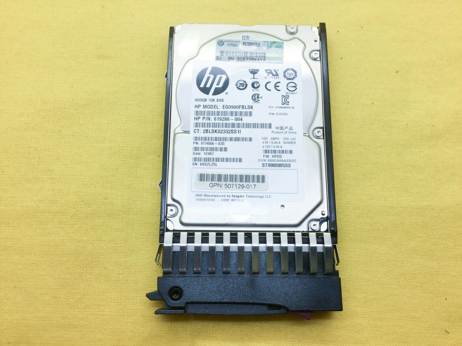 "HP 619291-B21 619463-001 900GB 6G 10K 2.5/"" SAS Hard Drive"