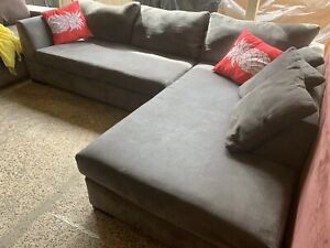 Quality grey lounge chaise
