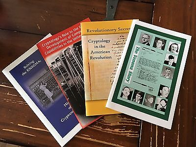 National Security Agency NSA Book Set Of 4: SOLVING THE ENIGMA RARE