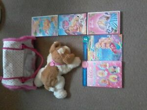 Barbie Hug n Heal talking, interactive dog with dog carrier