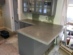 Concrete countertops sinks and furniture