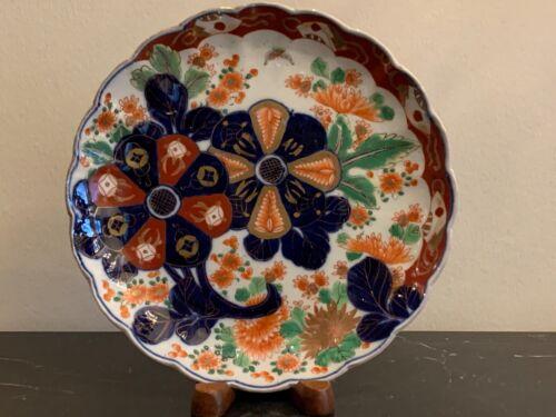 Antique Fine Japanese Imari Scalloped Plate