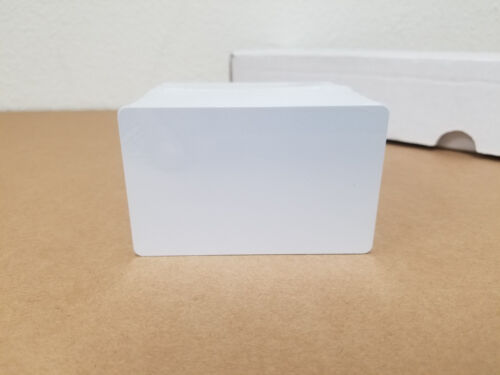 100 Blank White PVC Cards, CR80.30 Mil, High Quality for Color and UV Printing