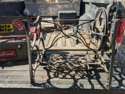 Antique Cast Iron Treadle Sewing Machine Stand / Minnesota