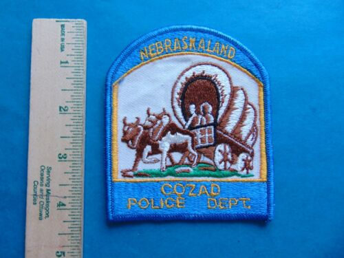 VINTAGE COZAD NEBRASKA POLICE DEPT. NEBRASKALAND POLICE PATCH