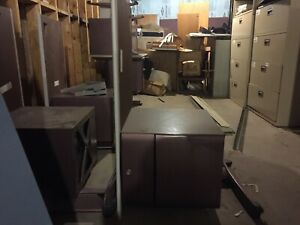 50 each, 2 piece L shaped metal desks