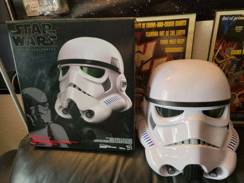 ***Star Wars Black Series Imperial Stormtrooper Voice Changer Rogue One Helmet**