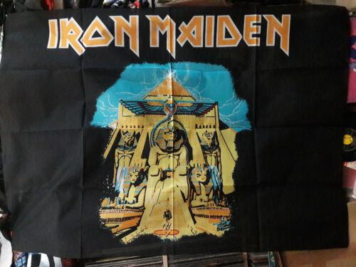 Vintage    IRON MAIDEN    Unused  80s TEXTILE POSTER FLAG   powerslave