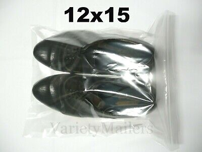 15 Large Clear Ziplock Bags 12x15 Reclosable Merchandise Zipper Seal