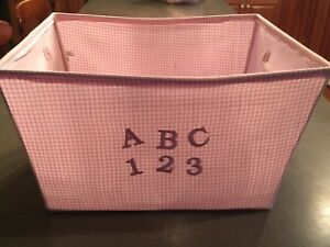 Pink Gingham Basket for a Baby / Little Girl's Room
