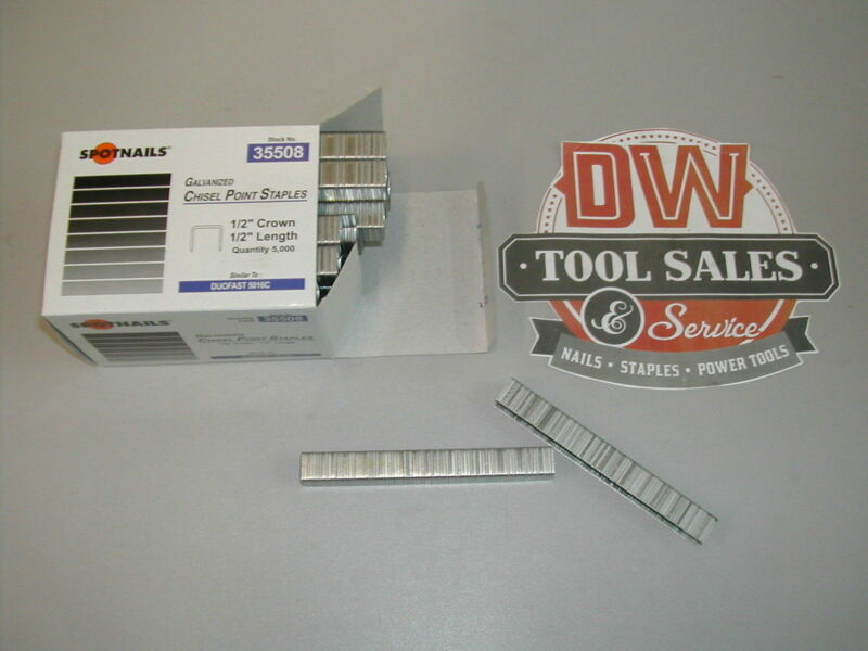 "5016C Staples 35508 1/2 Crown 1/2"" Length Galvanized 50 Series (5,000)"