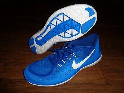 Nike Flex Run Shoes (NEW WOB Nike Flex 2017 RN Run Royal Blue White Running Shoes 13)