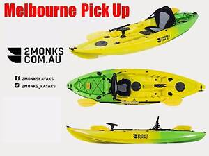 Single Sit-On Fishing Kayak 3M with Paddles, Rod Holders, Seat Wantirna South Knox Area Preview