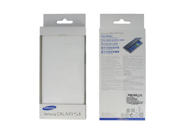 Official Samsung EF-WG900BWEGWW White Flip Wallet Case / Cover - G900 Galaxy S5