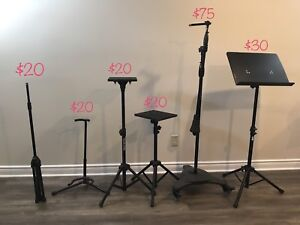 Variety of music stands