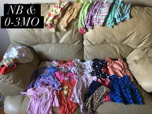 Newborn and 0-3mo Girls Clothes