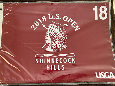 New Sealed 2018 U.S. Open Golf Flag Shinnecock Screen Printed USGA Brooks Koepka