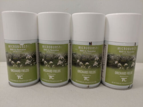 RUBBERMAID FG4012451 Air Freshener Refill,Orchard Fields - 4 Canisters