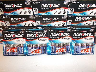48 AAA RAYOVAC premium alkaline batteries Dated 2026  Made in USA free shipping