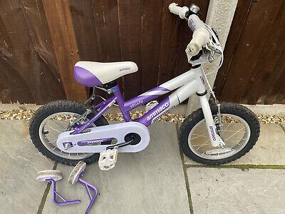 "Ammaco Misty Girls BMX 14"" Wheel White/Purple"