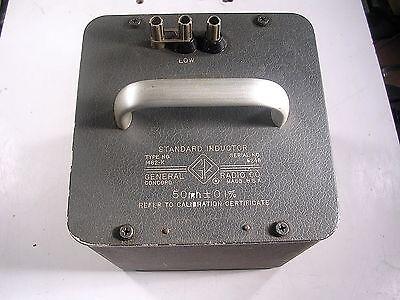 General Radio Standard Inductor Model 1482-k Tested Good