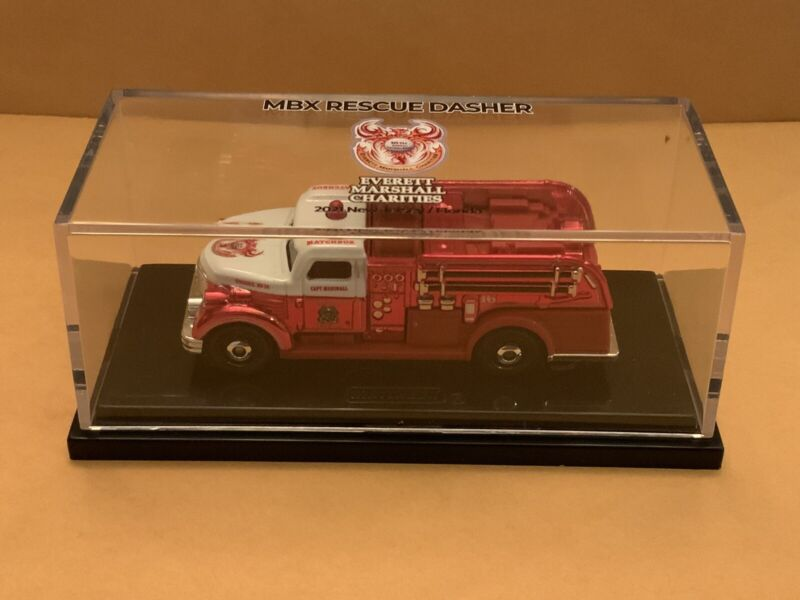 Matchbox 2021 Model MBX Rescue Dasher made for Everett Marshall Charities Red