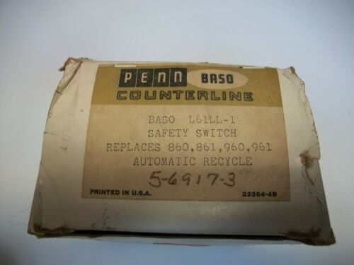 New Penn Baso L61Ll-1 Safety Switch