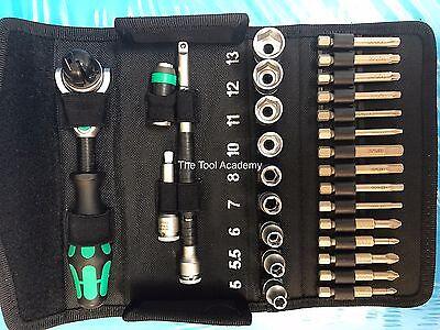 Wera Tools Last Few Left 8100SA6 Zyklop Speed Ratchet Metric Toolkit Set 1/4 Dr