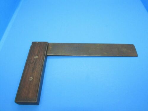"""as-is early Stanley Rule & Level No 10 try square 8"""" w/ cast iron frame"""
